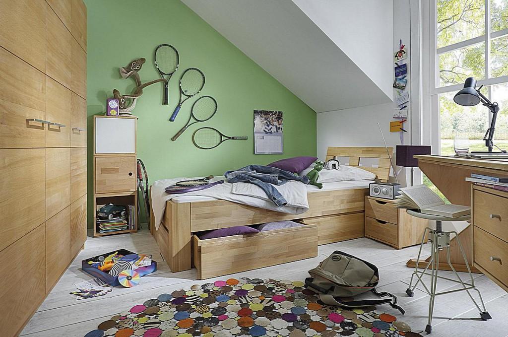 Jugendzimmer Kinderzimmer 5teilig Buche Massiv Geolt