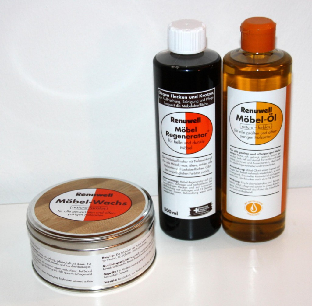 Renuwell Möbelpflege-Set Möbel-Öl -Wachs Politur -Regenerator – Bild 1