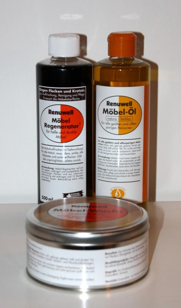 Renuwell Möbelpflege-Set Möbel-Öl -Wachs Politur -Regenerator – Bild 4
