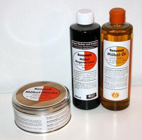 Renuwell Möbelpflege-Set Möbel-Öl -Wachs Politur -Regenerator 001