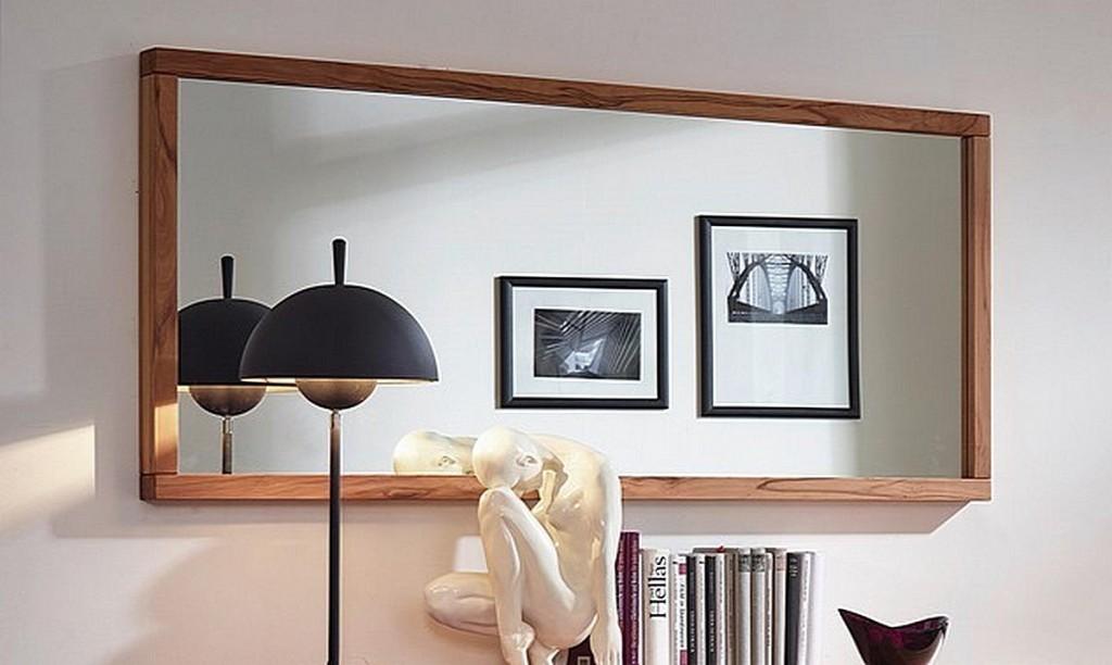 Wandspiegel 160x70 Kernbuche geölt Dielenspiegel Schlafzimmerspiegel ...