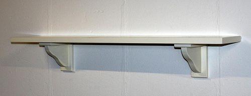 Wandregal 118cm creme Vollholz Wandboard – Bild 5