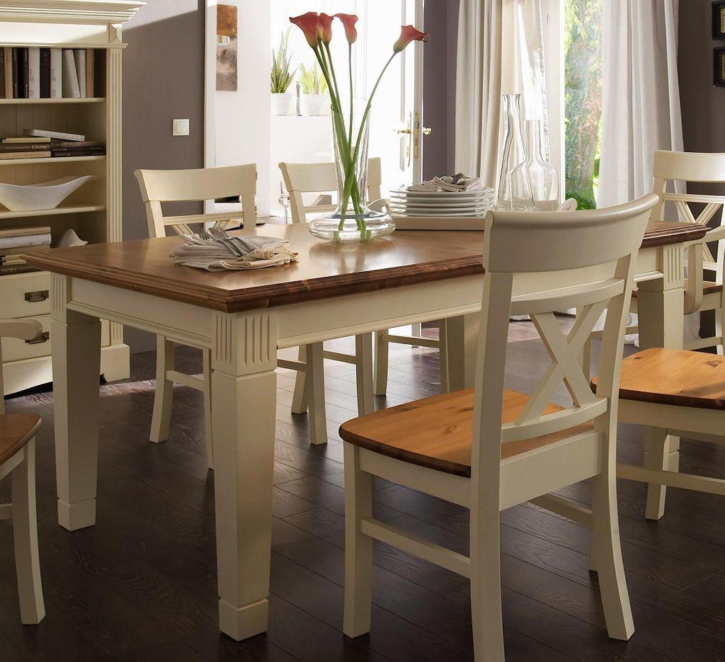 Massivholz Esstisch 140 200x95 Kiefer Creme Honig Esszimmer Tisch Ausziehbar Holz Ebay