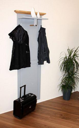 Garderobenpanel Wandgarderobe Buche grau Wildeiche bianco geölt – Bild 1