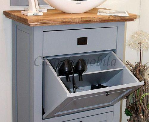 Dielen-Set 2teilig Dielenmöbel Buche grau Wildeiche bianco geölt Flurmöbel – Bild 3