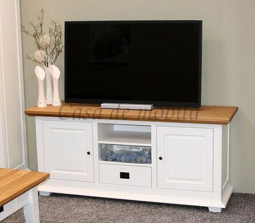 Wohnzimmer komplett 4teilig Anbauwand Couchtisch Buche weiß Wildeiche geölt – Bild 2