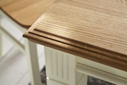 Massivholz Couchtisch 130x75 Kiefer lackiert Wildeiche geölt Stubentisch – Bild 5