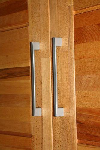 Schlafzimmerschrank 3türig Spiegel Kernbuche Schrank mit Schubladen Vollholz massiv geölt Kleiderschrank – Bild 9