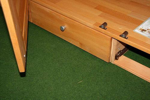 Schlafzimmerschrank 2türig Kernbuche Schrank mit Schubladen Vollholz massiv geölt Kleiderschrank – Bild 15