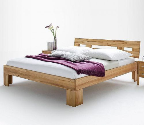 Doppelbett 180x200 Kernbuche Bett Vollholz massiv geölt – Bild 1