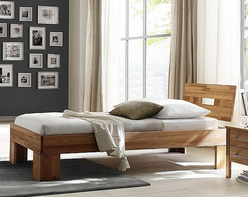 Schlafzimmer 3teilig, Bett 90x200, Schrank 2türig, glatte Front ...