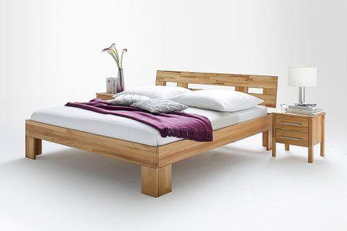 Schlafzimmer komplett 4teilig Bett 180x200 Schrank 4türig Kernbuche massiv geölt – Bild 7