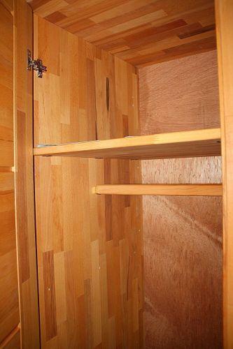 Schlafzimmer-Set Schubladenbett 180x200 Schrank 4türig Kernbuche massiv geölt – Bild 3