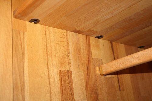 Schlafzimmer-Set Schubladenbett 180x200 Schrank 4türig Kernbuche massiv geölt – Bild 5