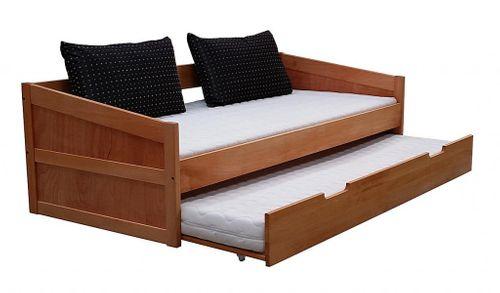 Kinderbett 90x200 Kojenbett Bettkasten Kernbuche Schubladenbett massiv – Bild 1