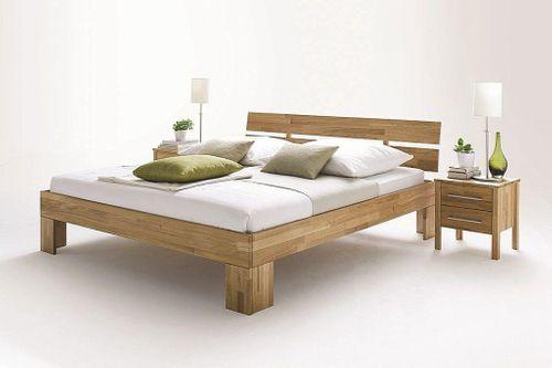 Bett 180x200 Wildeiche Doppelbett Vollholz massiv geölt – Bild 2