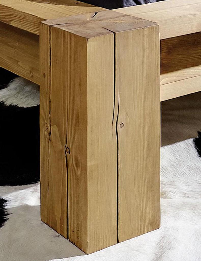 balkenbett 160x220 mit kopfteil 2 nordisches massivholz rustikal antik gewachst. Black Bedroom Furniture Sets. Home Design Ideas