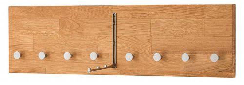 Dielenmöbel 4teilig Dielenbank Kommode Spiegel Garderobe Wildeiche massiv geölt – Bild 7