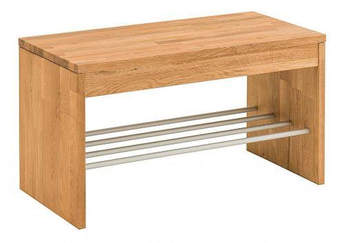 Dielenmöbel 3teilig Schuhschrank Schuhbank Garderobe Wildeiche massiv geölt – Bild 2