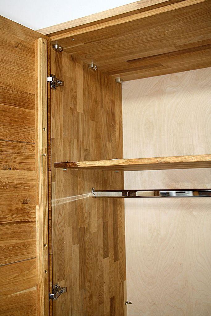 kleiderschrank 240x219x60cm 4 t ren wildeiche massiv ge lt. Black Bedroom Furniture Sets. Home Design Ideas