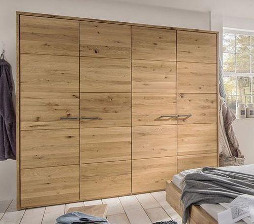 Massivholz Kleiderschrank 4türig Wildeiche massiv geölt – Bild 1