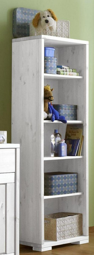 regal bcherregal vollholz babyzimmer standregal kiefer massiv wei lasiert with bcherregale weiss