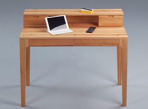 Sekretär Vollholz Schreibtisch 4 Schubladen Kernbuche massiv Computertisch geölt – Bild 2