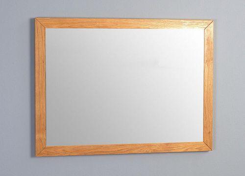 Wandspiegel Vollholz Spiegel 80x60 Wildeiche Flurspiegel massiv geölt