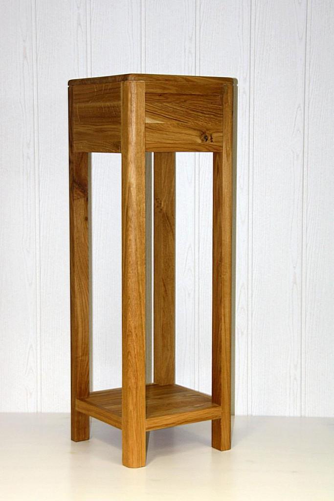 blumentisch 30x90x30cm 1 schublade wildeiche massiv. Black Bedroom Furniture Sets. Home Design Ideas