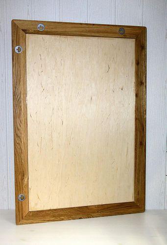Wandspiegel 70x100 Vollholz Dielenspiegel Spiegel Wildeiche massiv geölt – Bild 5