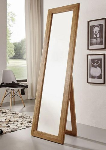 Standspiegel 50x175 Vollholz Dielenspiegel Schlafzimmerspiegel Wildeiche massiv geölt – Bild 1