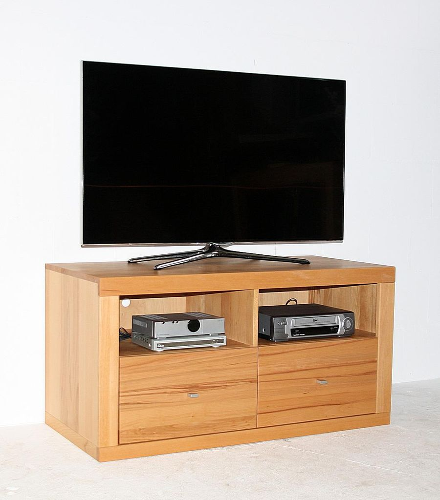 tv medien kommode 120x55x61cm 2 f cher oben 2 schubladen. Black Bedroom Furniture Sets. Home Design Ideas