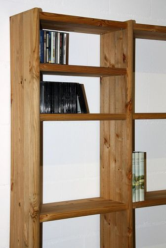 Bücherregal 93x198x21cm Vollholz Standregal Kiefer massiv Büroregal gelaugt geölt – Bild 7