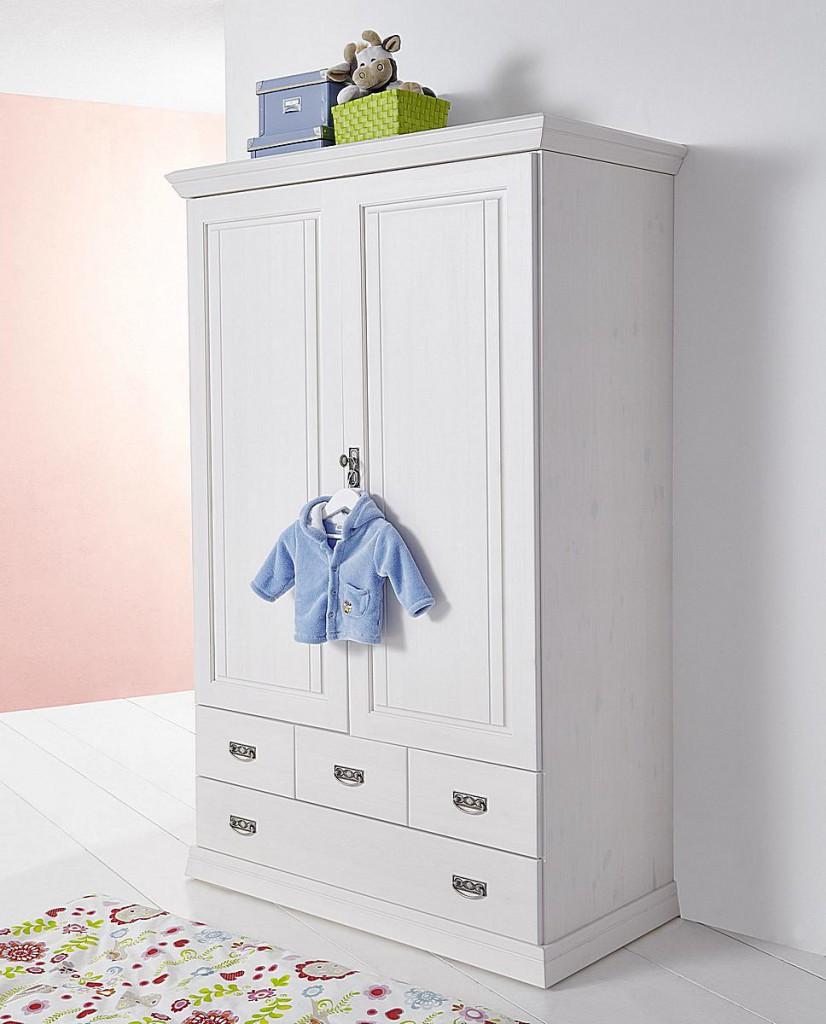 Kinderzimmer 6teilig weiß komplett Babyzimmer Set Kiefer Vollholz massiv – Bild 2