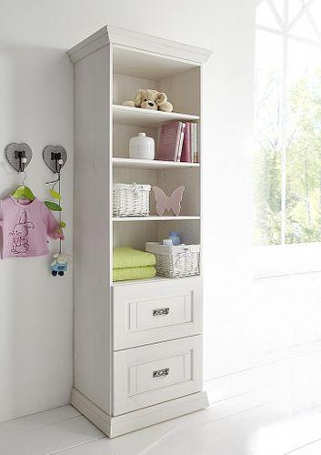 Kinderzimmer 6teilig weiß komplett Babyzimmer Set Kiefer Vollholz massiv – Bild 9