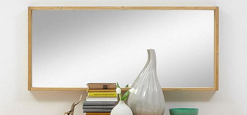 Schlafzimmerspiegel 135x60 60x135 Kiefer Wandspiegel massiv gelaugt geölt – Bild 1