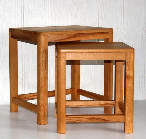 Beistelltisch 2er Set Vollholz Zweisatztisch Tischset Kernbuche massiv geölt – Bild 3