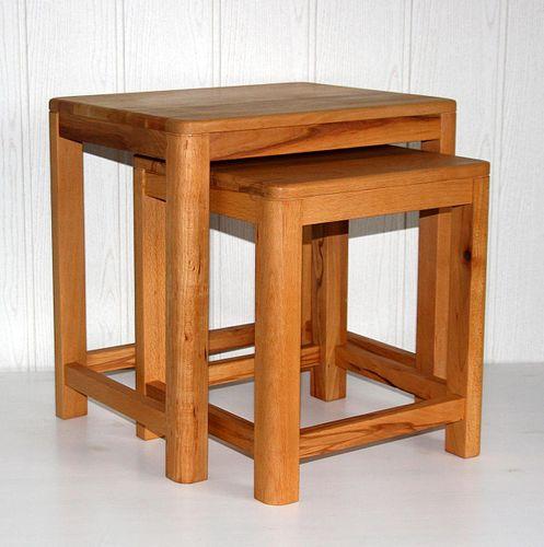 Beistelltisch 2er Set Vollholz Zweisatztisch Tischset Kernbuche massiv geölt – Bild 8
