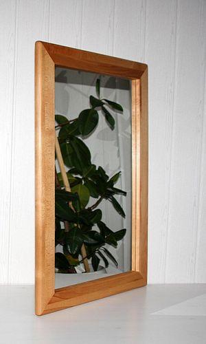 Wandspiegel 70x100 Vollholz Dielenspiegel Spiegel Kernbuche massiv geölt – Bild 1