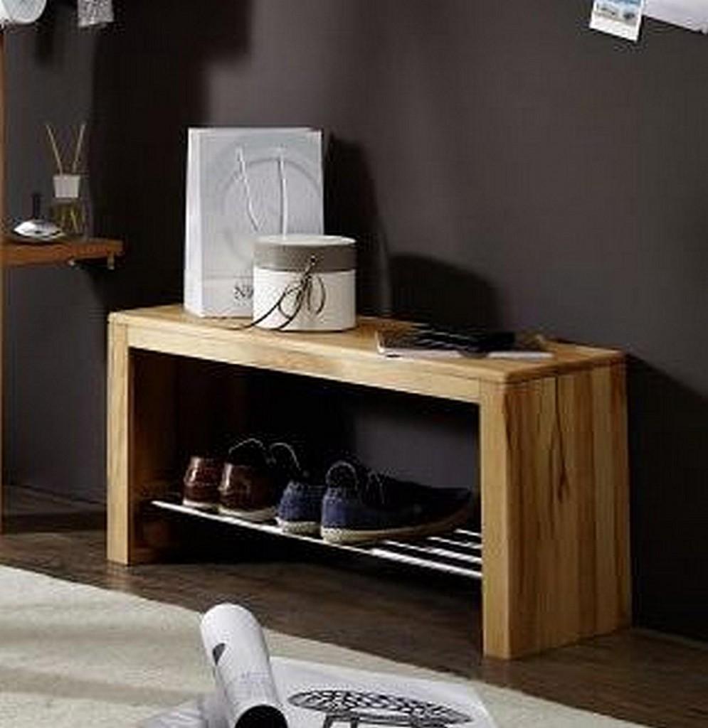 dielenbank 81x40x30cm kernbuche massiv ge lt. Black Bedroom Furniture Sets. Home Design Ideas