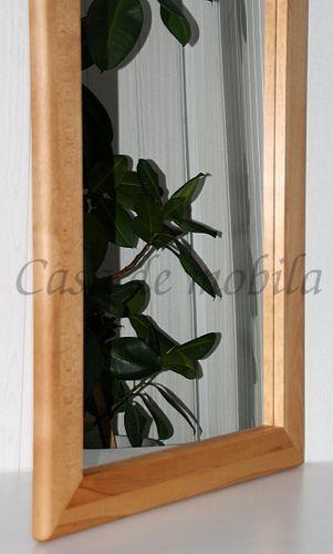 Wandspiegel 50x175 Vollholz Schlafzimmerspiegel Dielenspiegel Kernbuche massiv geölt – Bild 2