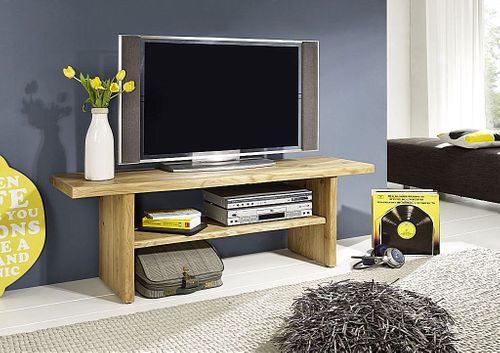 tv bank 160x48x40cm baumkante wildeiche massiv ge lt. Black Bedroom Furniture Sets. Home Design Ideas