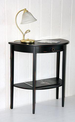 Konsolentisch Telefontisch Massivholz Shabby Chic schwarz – Bild 1