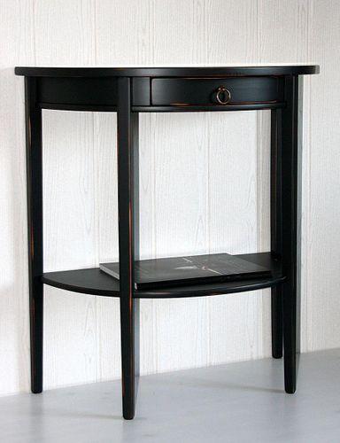 Konsolentisch Telefontisch Massivholz Shabby Chic schwarz – Bild 5