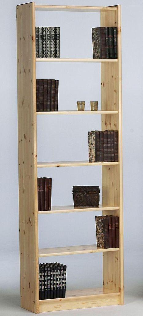 standregal 64x205x30cm 5 b den kiefer massiv natur lackiert. Black Bedroom Furniture Sets. Home Design Ideas