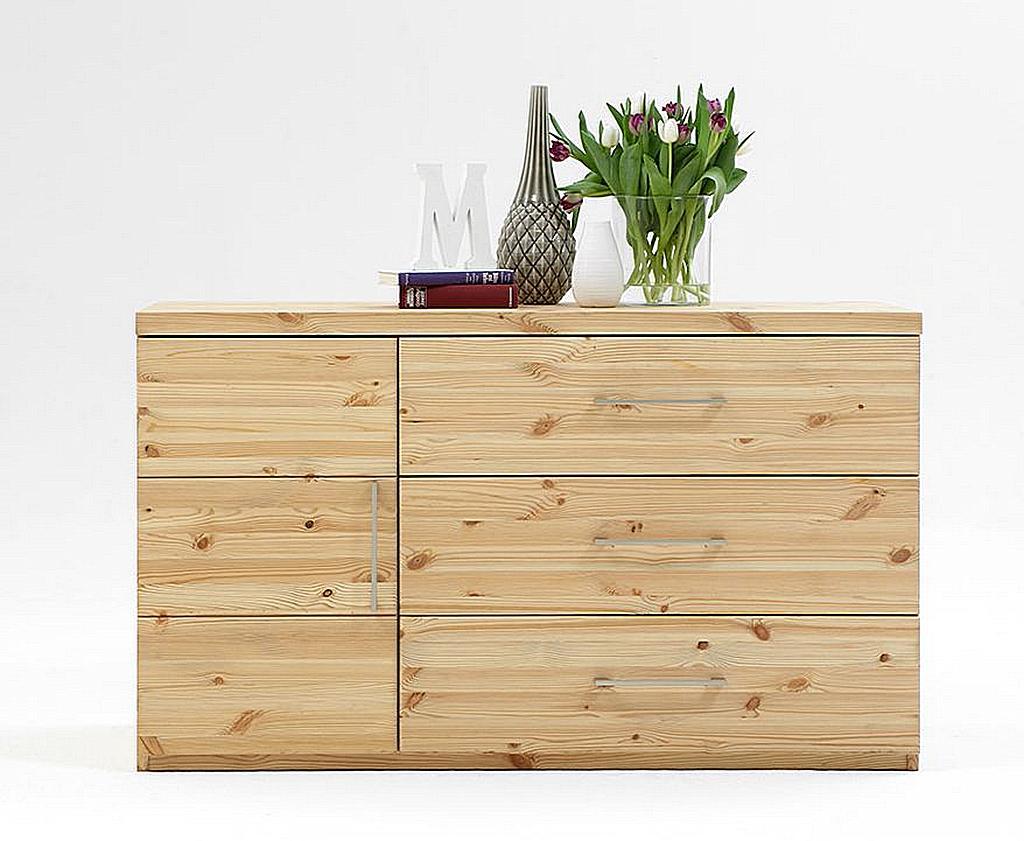 kommode 135x80x48cm 2 t ren 3 schubladen kiefer massiv. Black Bedroom Furniture Sets. Home Design Ideas