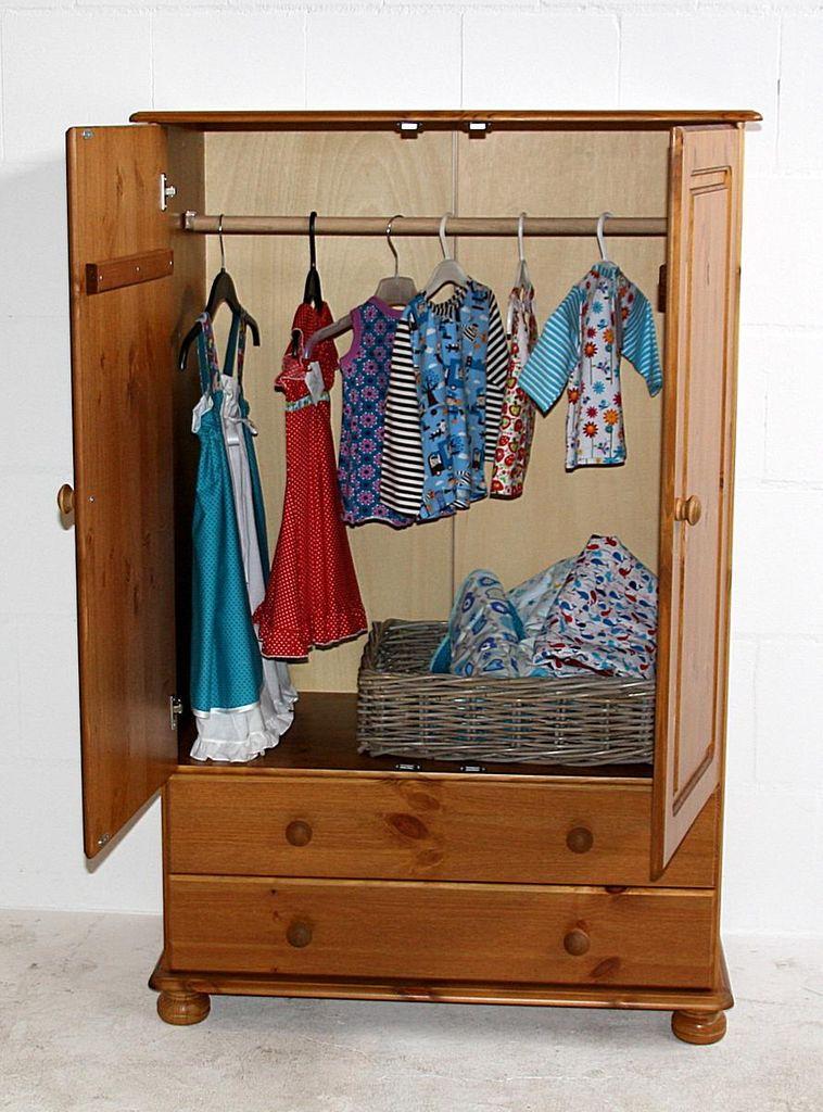 Wäscheschrank Schlafzimmerschrank Kiefer massiv gebeizt lackiert – Bild 2
