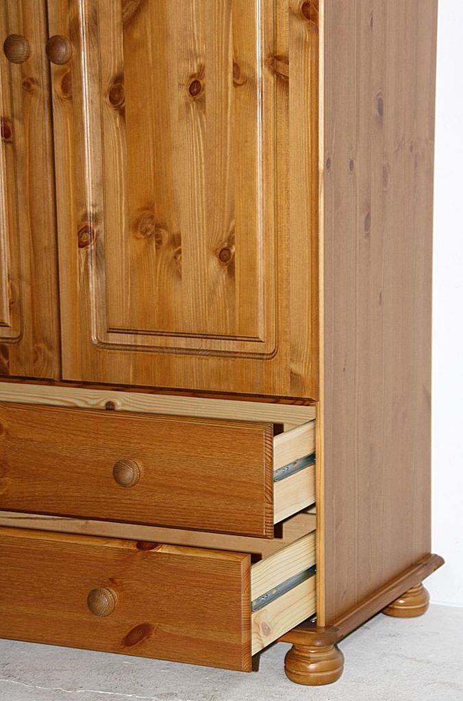 Wäscheschrank Schlafzimmerschrank Kiefer massiv gebeizt lackiert – Bild 6