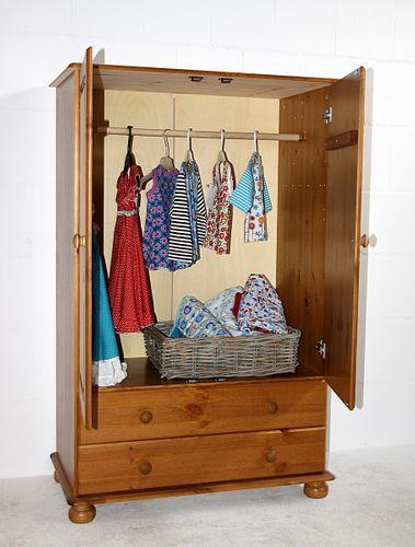 Wäscheschrank Schlafzimmerschrank Kiefer massiv gebeizt lackiert – Bild 1