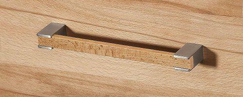 Massivholz Mehrzweckschrank Kernbuche Highboard Brotschrank Dielenschrank natürlich geölt  – Bild 3